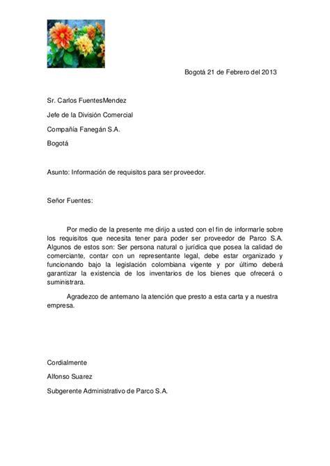 Carta De Empleo Estilo Bloque carta estlo semibloque