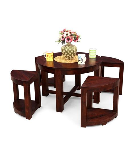 Table With 4 Stools by Cremia Coffee Table With 4 Stools Buy At Best