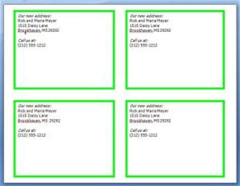 change of address word template change of address cards free printables printable cards