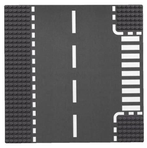 lego printable road pdf lego bricks more 7281 t junction curved road plates