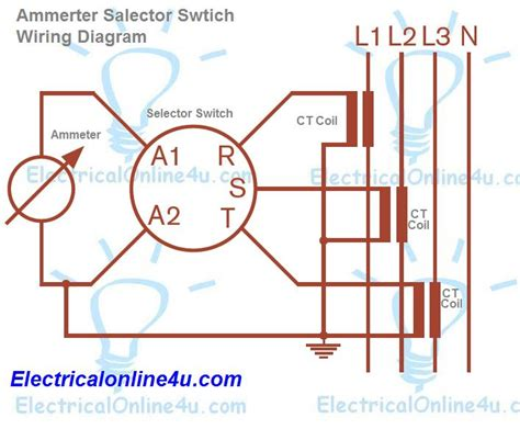 current transformer connection to meter diagram ammeter selector switch wiring diagram explanation