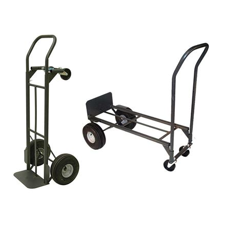 milwaukee 800 lb capacity 2 in 1 convertible truck
