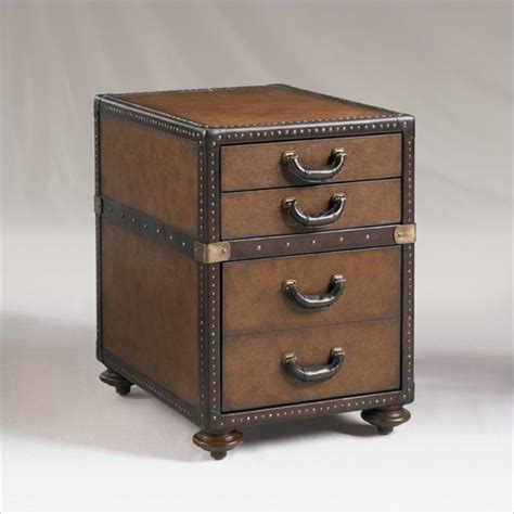 henry link madrid leather 3 drawer file chest in pullman