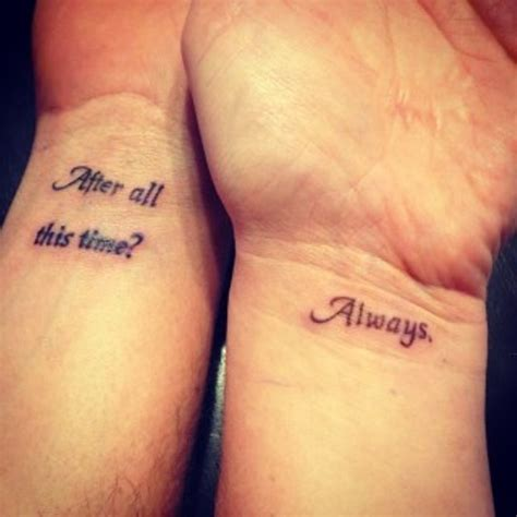 couple quote tattoos 40 stunning couples wrist