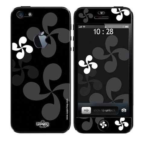 coque 3d iphone 5 croix basque b w upperbag