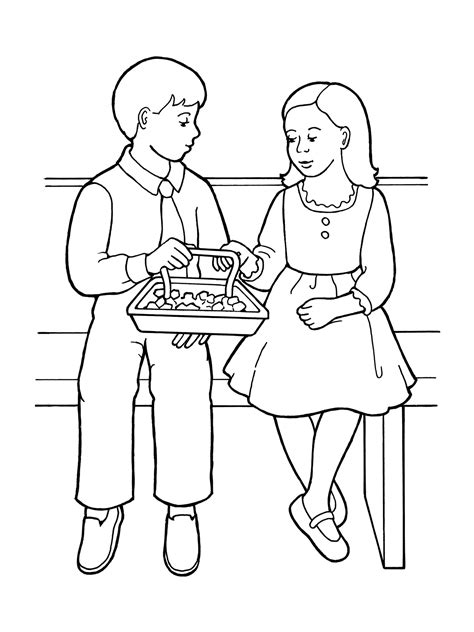 Coloring Pages Lds Sacrament | children partaking of sacrament bread