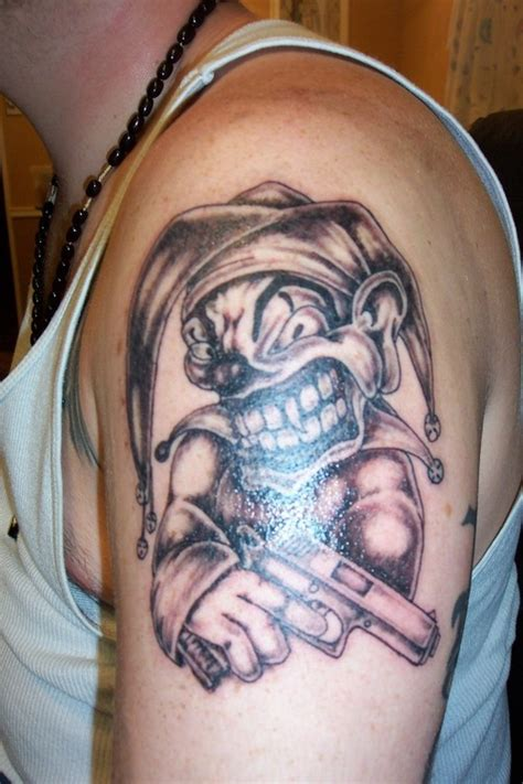 Joker Tattoo Gun | joker with gun tattoo tattoomagz