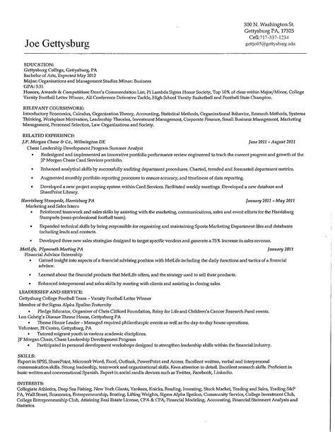 High School Resume For College Sle essay resume exles objective format for