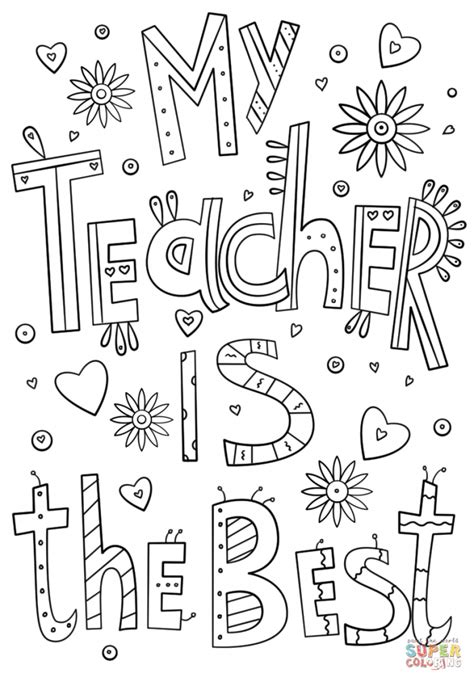 printable coloring pages for your teacher best teacher ever coloring pages 12507
