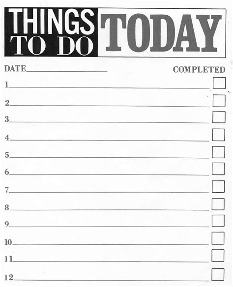 things to do list template pdf to do list pdf free to do list