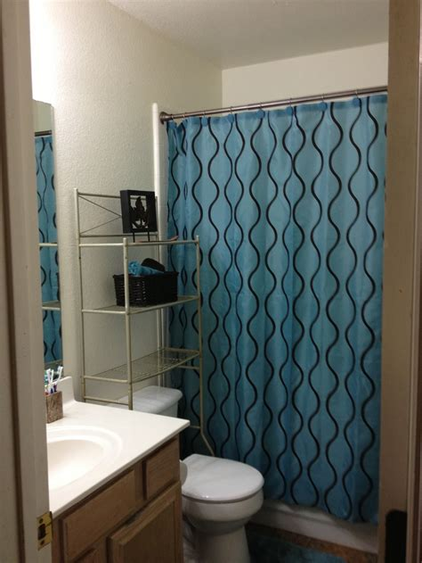 teal brown small bathroom ideas
