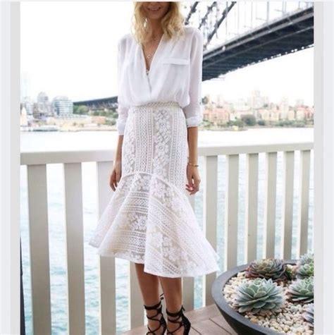 Blouse Mermaid White skirt midi skirt mermaid white crochet blouse