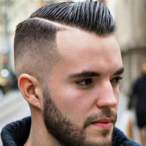 comb over hard part mens hairstyles comb over short sides hairstyles