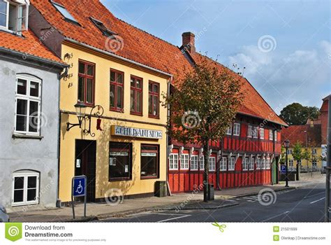 colored houses colored houses in denmark stock image image of historic