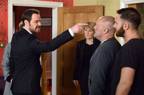eastenders bust up mick fights dean and buster about stan