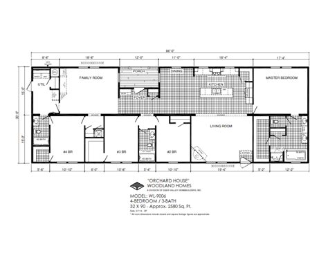 deer valley mobile home floor plans orchard house wl9006 deer valley homebuilders