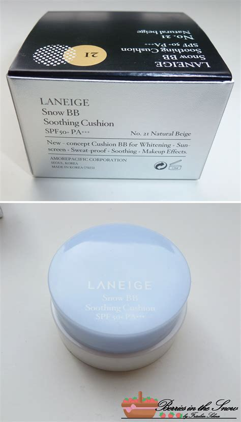 Laneige Snow Bb Cushion review laneige snow bb soothing cushion no 21 berries