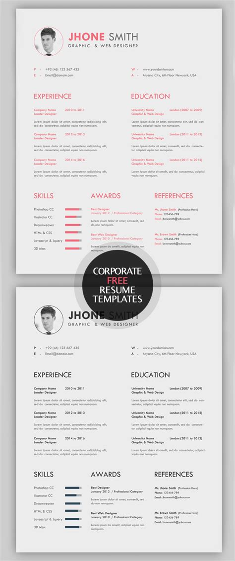 cool resume templates free 23 free creative resume templates with cover letter