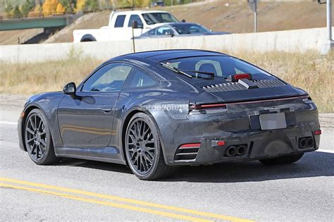 new porsche 2019 spyshots 2019 porsche 911 reveals digital dashboard with