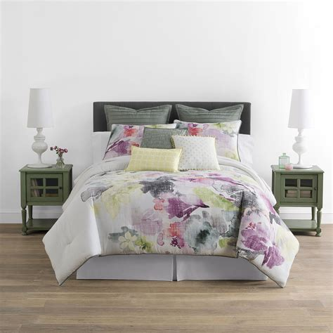 deals jcpenney home watercolor floral 4 pc comforter set