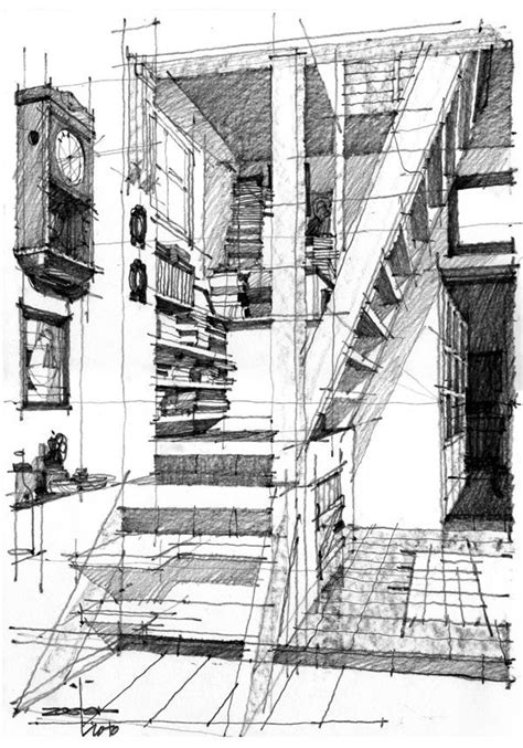 Pin By Matthieu Mielvaque On Architectural Drawing Pinterest | how to draw an atmospheric drawing architectural google