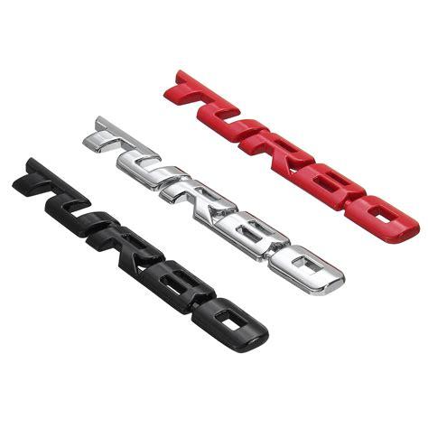 3d Sticker Car by Turbo 3d Metal Car Sticker Decals Lettering Car Rear