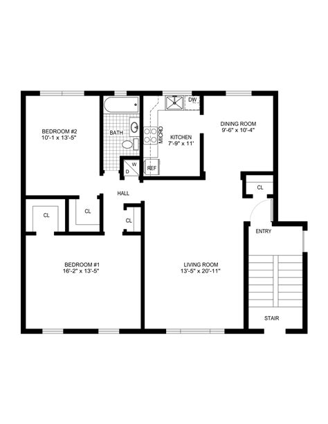 simple floor plans measurements house house plans 58249