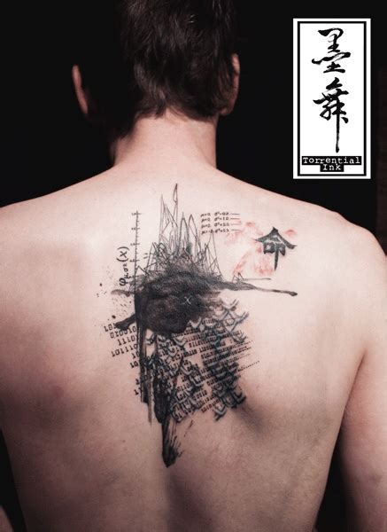 tattoo body wash these tattoos look like ink wash 墨舞 torrential ink hong