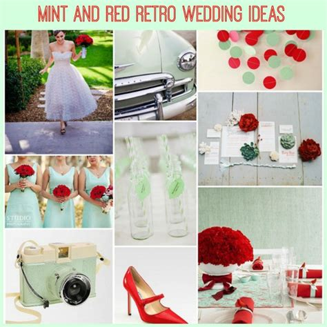 mint retro wedding ideas with a hint of