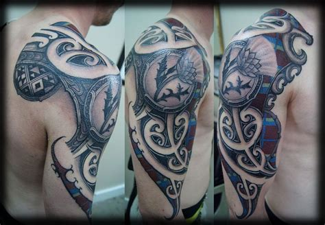 tartan tattoo designs really cool s sleeve scottish