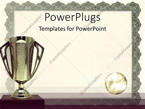 Powerpoint Template Medals Certificates Awarding Achievements And Successful On Neutral Award Template Powerpoint