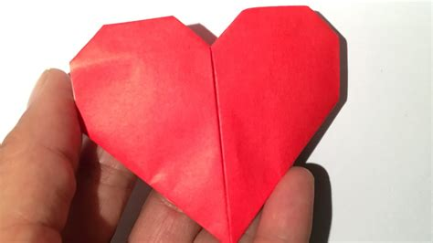 How To Make A Paper Hart - origami hartje vouwen easy