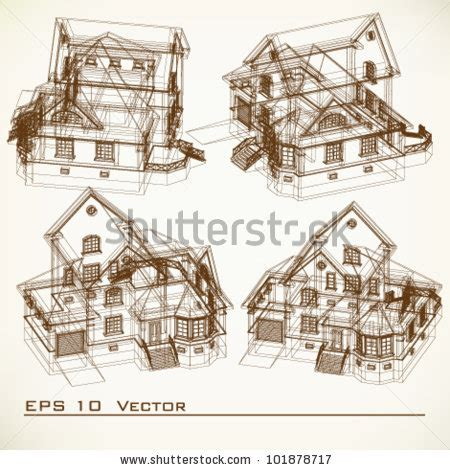 Construction Drawing Paper Set Of Building Drawings Architectural Background Part