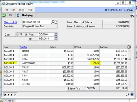 gl bank bank statement reconciliation in ms dynamics gp checkbook