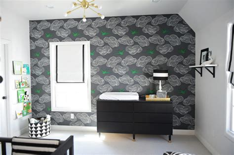 black and white nursery wallpaper black and white modern baby boy nursery project nursery