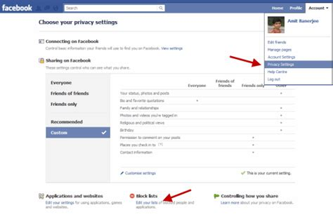 how to section someone block facebook application invites event invites and game