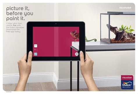 dulux augmented reality mobile app allows consumers to