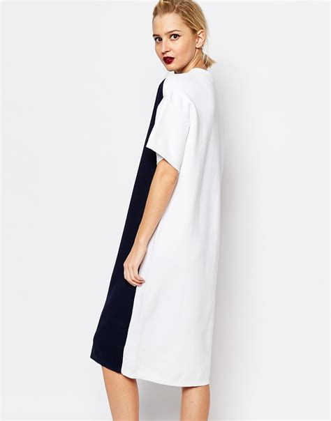Dress Hodie Adidas lyst adidas originals originals by hyke knitted midi t shirt dress with contrast back in blue