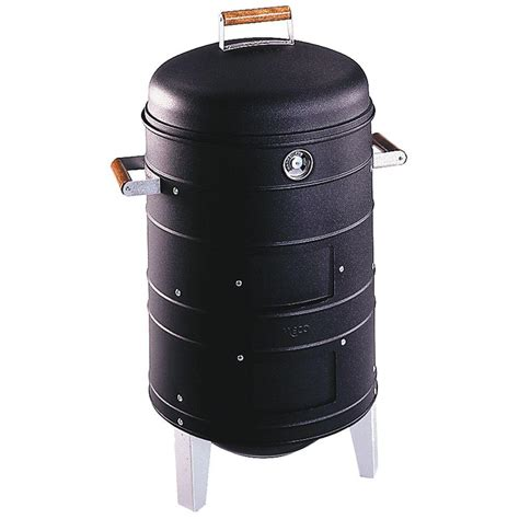 meco grid charcoal water smoker in black 5023i4 181