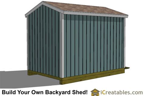 8x12 Shed Foundation by 8x12 Backyard Shed Plans Shed Plans Storage Shed Plans