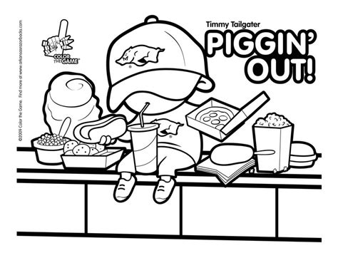 arkansas razorbacks football coloring pages coloring home