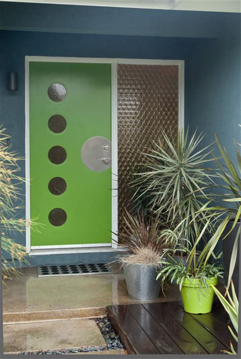 colorful mid century modern residence midcentury entry san francisco by kropat interior