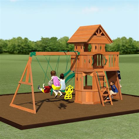 wooden backyard playsets woodland wooden swing set