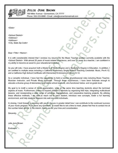 Cover Letter Sample Teacher   Covering Letter Example