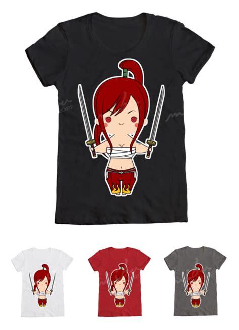 Tshirt Fairytail mibustore 183 custom t shirts erza scarlet