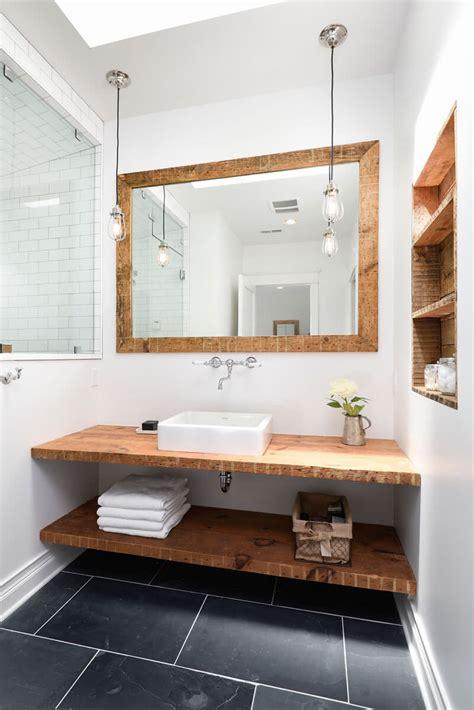 kleine badkamer hout badkamer met hout 25 prachtige voorbeelden ik woon fijn