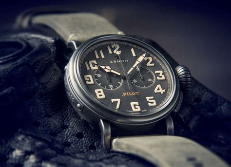 Swiss Clone 11 Replika Pilot Cafe Racer Heritage Stainless Steel zenith heritage pilot caf 233 racer time transformed