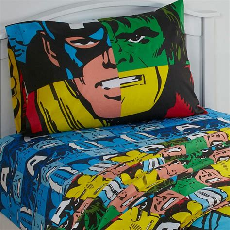 superhero comforter twin 3pc marvel avengers twin bed sheet set comic book hulk