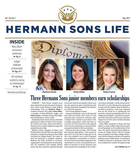 hermann sons youth c comfort texas may2017 by hermann sons life issuu