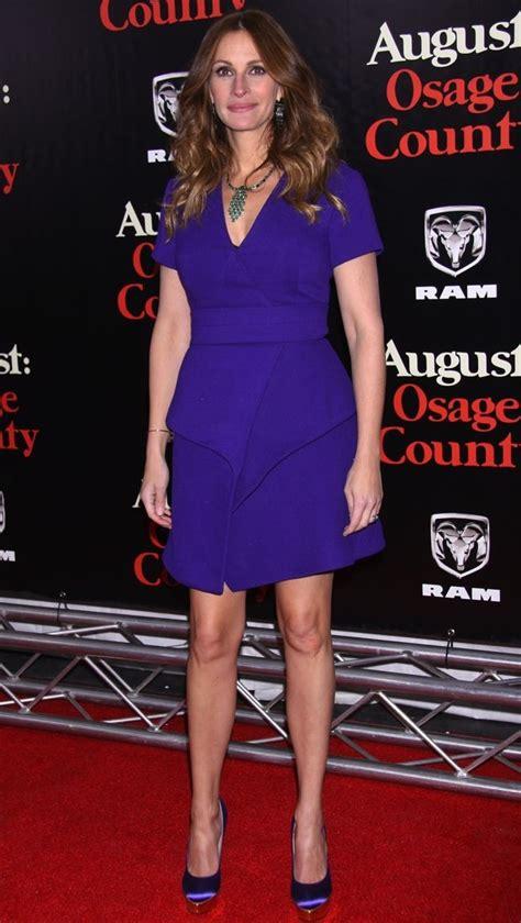 julia roberts brightens   red carpet   purple proenza schouler dress thefashionspot